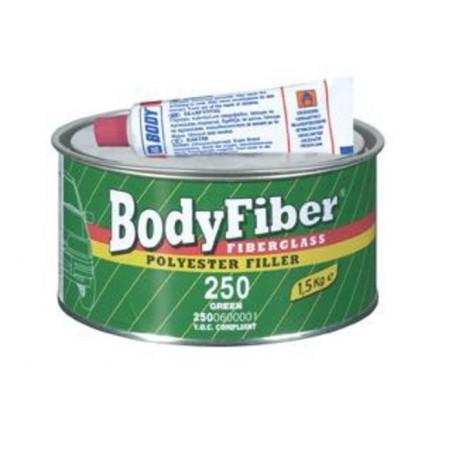 Masilla de Fibra de Vidrio - 250 Bodyfiber Fiberglass 2K Polyester Filler - Envase antiguo