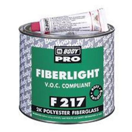 Masilla de Fibra de Vidrio - 250 Bodyfiber Fiberglass 2K Polyester Filler - F217