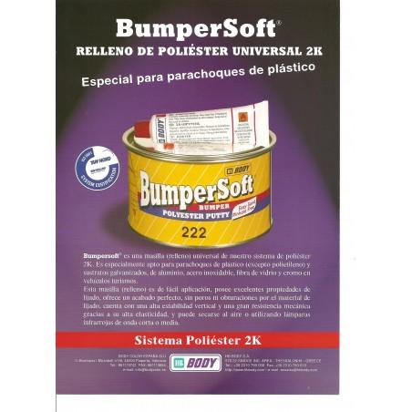 Masilla Para Plásticos 222 Body Bumpersoft 2K Bumper Polyester Filler - Características
