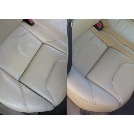 Restauración asiento cuero piel trasero
